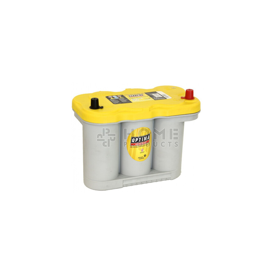 Optima Yellowtop Startaccu, 47601, 12V, 66Ah, poolschema 0, met dikke accupolen